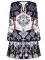 Sukienka mini w modne azteckie wzory