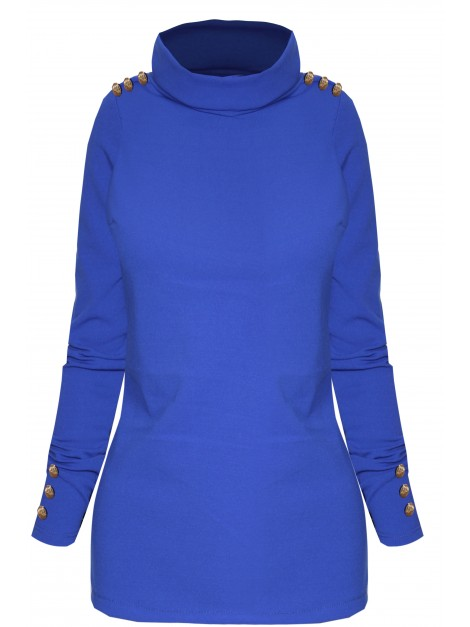 Elegancka bluzka z ozdobnymi guzikami
