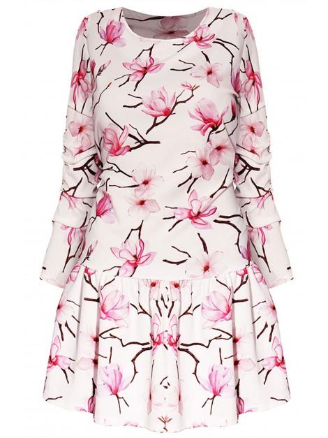 Mini sukienka z floral printem