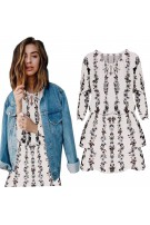 Modna sukienka w kwiatowy print