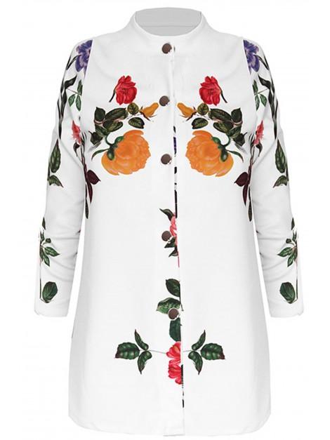 Bluzka z printem kwiatowym