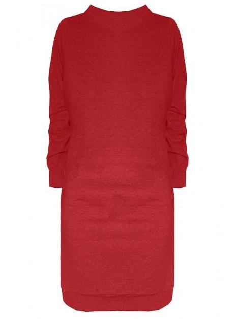 Dresowa mini sukienka