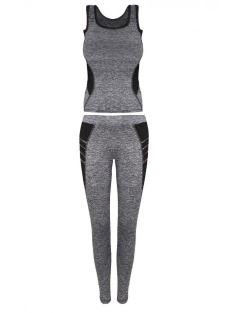 Modny zestaw na siłownie top i legginsy