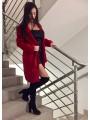 Kobiecy wiązany płaszczyk