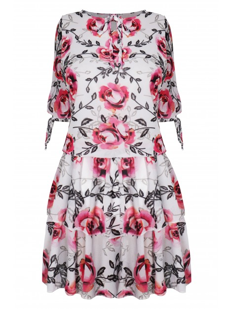 Sukienka w kwiatowy print