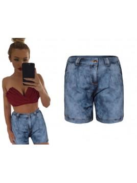 Krótkie bawełniane spodenki imitujące jeans