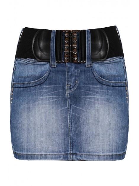 Jeansowa mini spódniczka