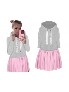Dresowa dwukolorowa sukienka