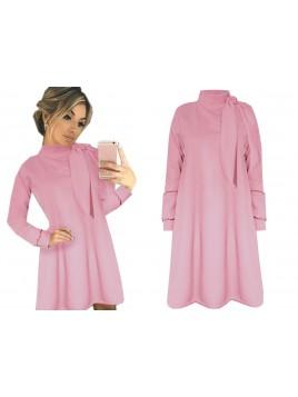 Mini sukienka z wiązaniem przy dekolcie