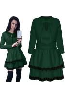 Rozkloszowana mini sukienka z wiązaniem