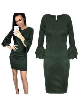 Zamszowa mini sukienka