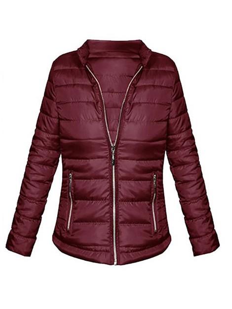 Pikowana modna kurtka wiatrówka