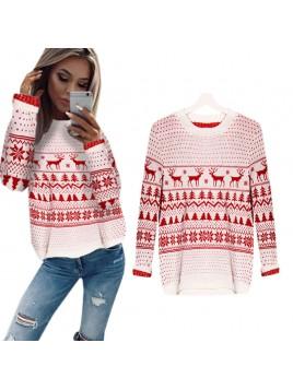 Ciepły sweterek świąteczny