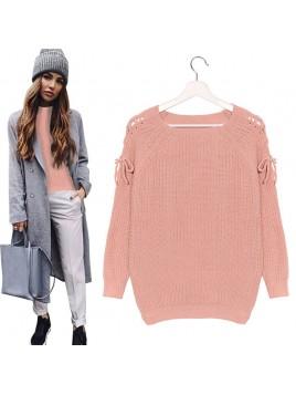Sweterek z wiązaniami