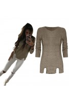Sweterek z wycięciami