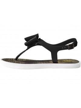 Sandałki z kokardkami czerń