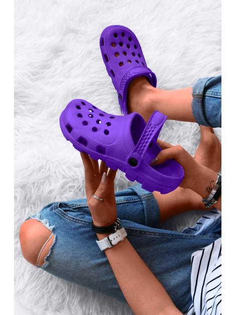 Klapki crocsy fiolet