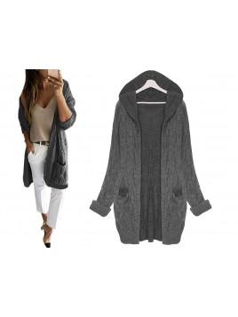 Ciepły sweterkowy kardigan