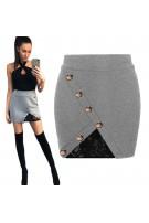 Asymetryczna mini spódniczka