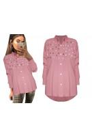 Asymetryczna koszula z perełkami