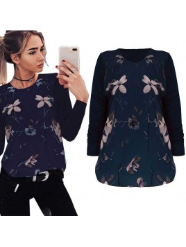 Elegancka, zmysłowa bluzka z kwiatowym printem