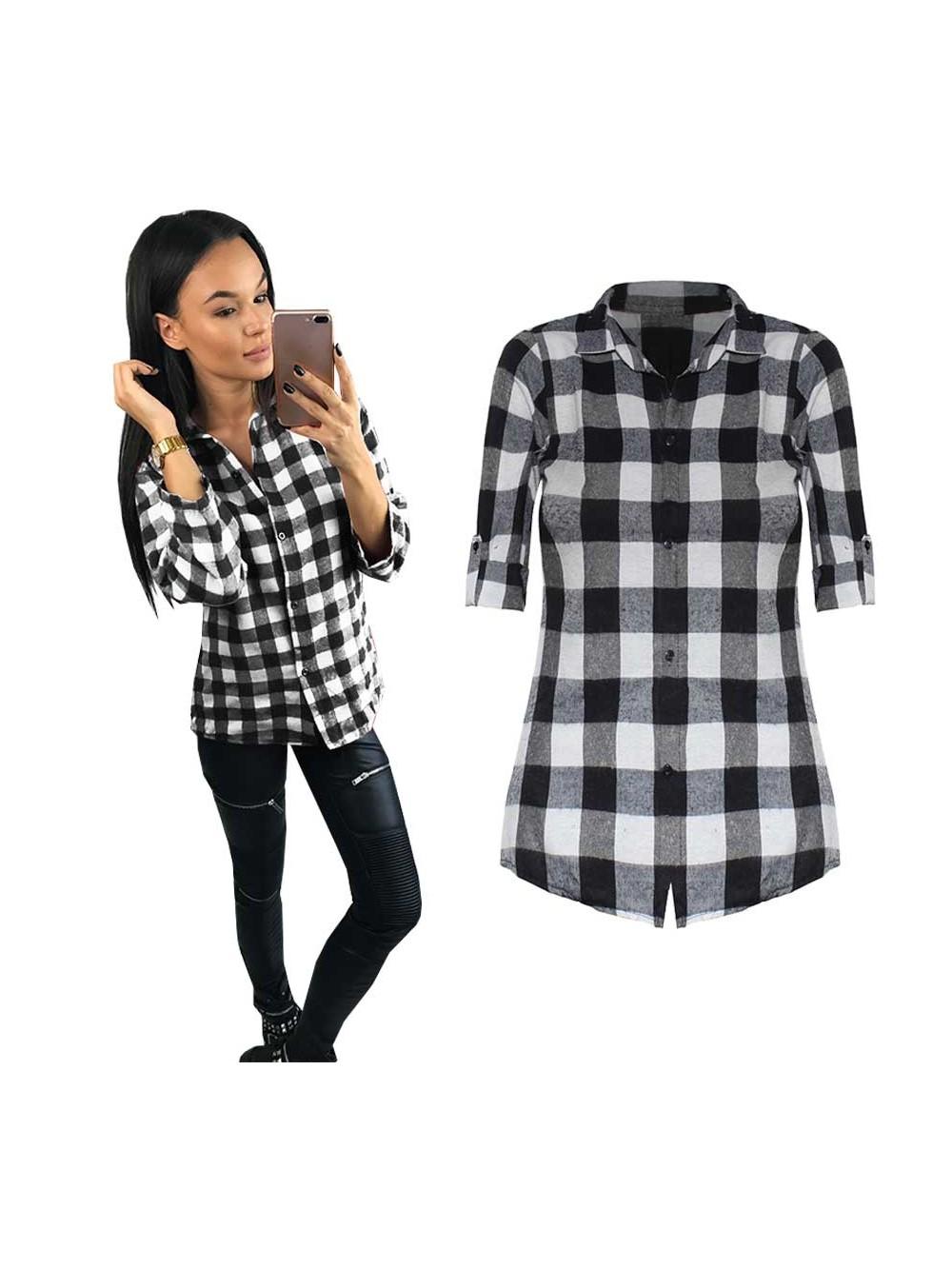 624d8e757c23fe Najmodniejsza koszula w kratę - sklep z odzieżą BySisi