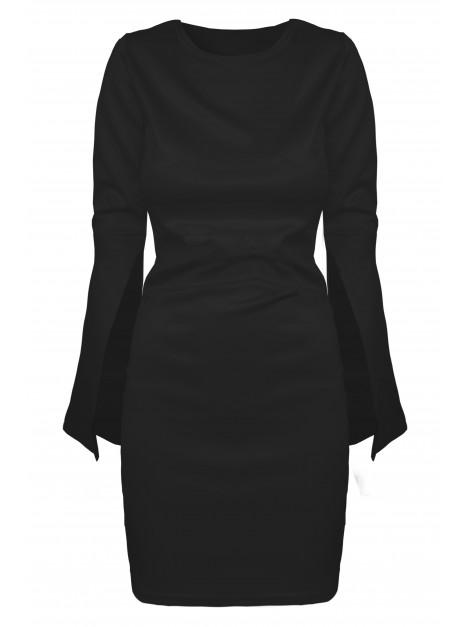 Elegancka sukienka z rozciętymi rękawami