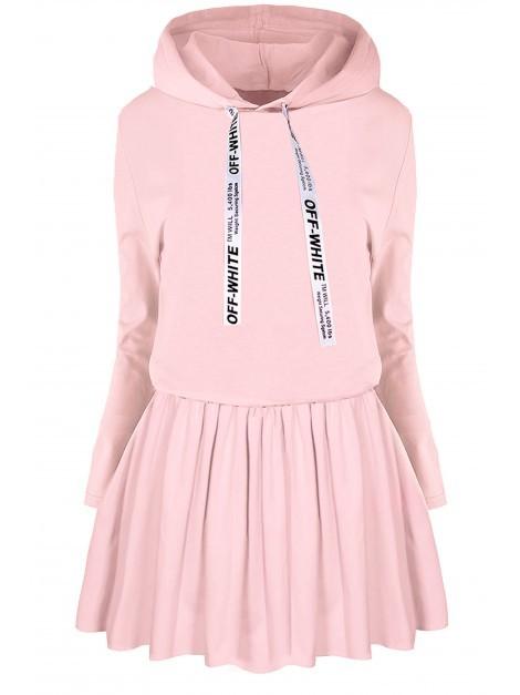 Dresowa sukienka z kapturem