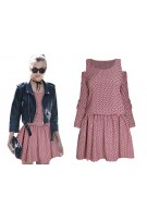 Mini sukienka z open shoulders