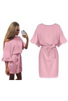 Mini sukienka z wiązaniem