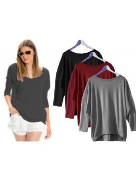 Asymetryczna bluzka typu oversize