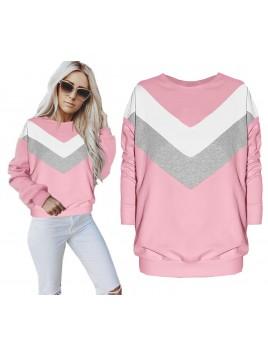 Luźna trójkolorowa bluza