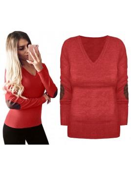 Klasyczny sweterek z łatkami