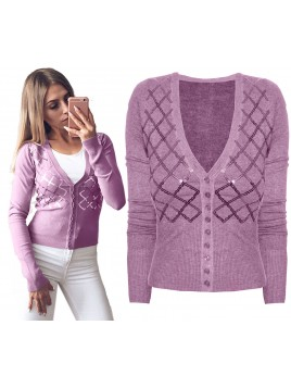 Klasyczny sweterek z cekinami