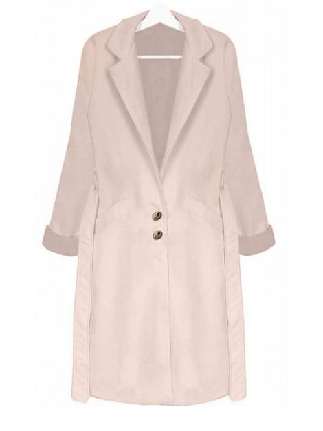 Stylowy płaszcz z wiązaniem