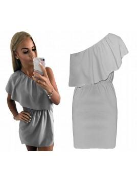 Mini sukienka na jedno ramię